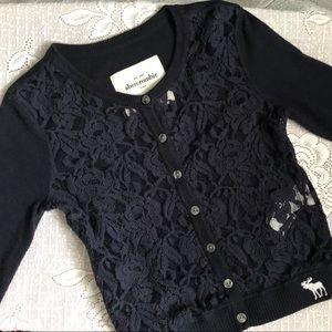 Abercrombie kids ⭐️ Lace cardigan ⭐️ Worn once!